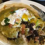 RANCHEROS VERDE (I started eating before I took a picture). It is so GOOD!!!