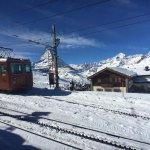 One of the few stations between Gornergrat and Zermatt!