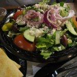 Large Greek Salad served with grilled pita