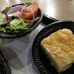 Side salad and Spanakopita