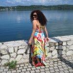 Disfrutando el Lago Brujo del agua