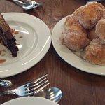 Chocolate Walnut Cake & Beignets