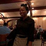 Our wonderful waitress Yolanda who is an aspiring school teacher.
