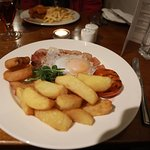 gammon and chips nice duck egg