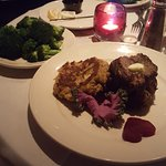 Upstairs Restaurant Filet Mignon and Crab cake