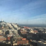 Bay view with Coit tower. They just need to clean the outside window!
