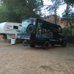 Clean campgrounds right next to a river/creek! Shuttle picks you up at the entry to Campground s