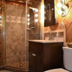 Workshop bathroom with shower