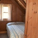 Workshop upstairs bedroom with full bed