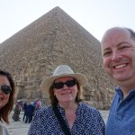 At the Great Pyramid with Rasha