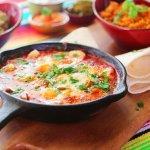 #10 San Andres - Garlic prawns sauteed in ranchero sauce, jalapenos, capsicum, cheese & rice