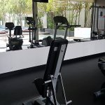 Work out room near to the pool