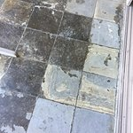 Heavily weathered tiles