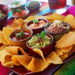 Combo Dips - Guacamole, Frijole Dip, Queso Fundido & Ranchero Sauce