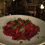 The beet risotto was favoloso!