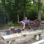 Nice sitting area with camp fire but somewhat limited in size.