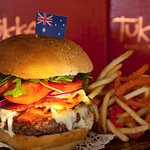There can be only one Aussie Burger!
