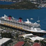 View of Disney Fantasy from middle of Skyride