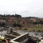 The Roman Forum is literally across the street!