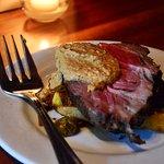Coppa steak with fabulous Salbitxada sauce.