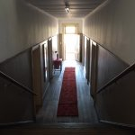 An upstairs passageway of The Lenox, historic, cool and quiet.