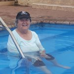 Mom Brown 81 relaxing in the hot pool 18th February 2017.