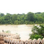 Betwa river from terrace of the hotel