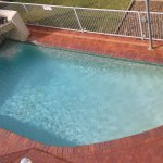 Pool from top floor.