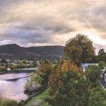 Woodbridge on the Derwent River and Garden Aerial View