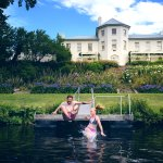 Swimming at Woodbridge on the Derwent River and Garden