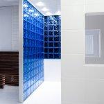 Shower room at the men's sauna.