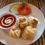 Fish and prawn dumplings