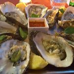 Great oysters, nice hot sauce!