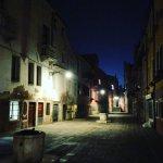 Una Venezia at night