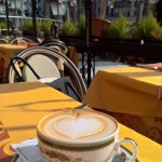 Cappuccino with the best view