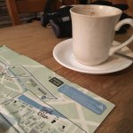 Coffee and map to plan!