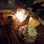 Cocktails & some table decor - Calamansi mojito & Calamansi margarita by their bartender.