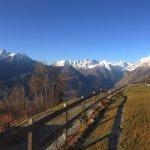 Panorama sul Monte Bianco dalla terrazza fronte struttura