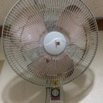 electric fan at sala/dining area