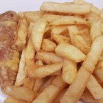 2 pork sausages with chips £2.50