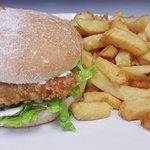 chicken breast steak burger and chips £3.30