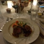 Lamb chops, fine dinning at the resort