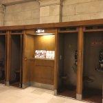 Original wooden telephone boxes