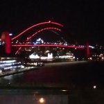 View at night of Harbour Bridge