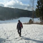 Dolenjske Toplice - a walk in the snowy hills surrounding the hotel