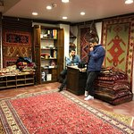 Murselin and Ismail with the carpet I bought (the one on the top)