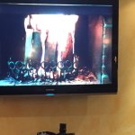 The only fire was on a TV screen in the lounge/bar!