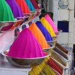 Colourful local shops