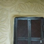 Outside of the Tharu cottage (room) with traditional designs