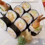 mixed tempura sushi